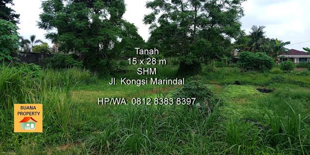 Jual tanah murah SHM ukuran 15 x 28 m SHM di Jl Pendapatan 3 - Jl Kongsi Marindal Medan Sumatera Utara