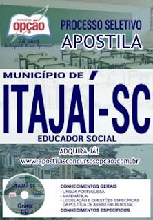 Apostila Prefeitura de Itajaí - Educador Social 2017