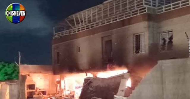 Cuatro heridos tras explosión e incendio de un edificio en Maracaibo
