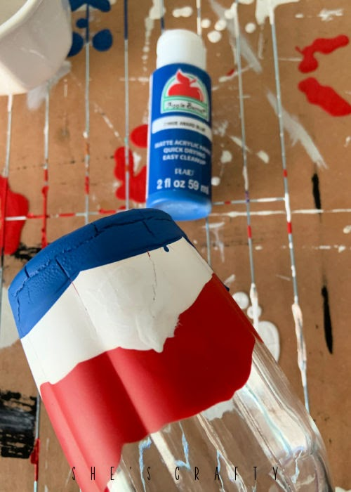 How to make a dip painted vase.