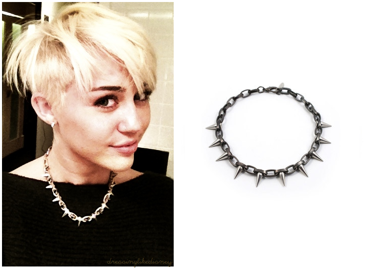 Miley Cyrus: Spiked Necklace | Dressing Like Disney ...