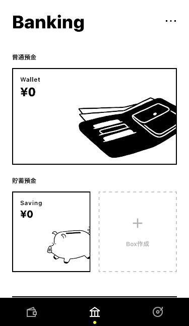 ボックス画面のスクリーンショット
