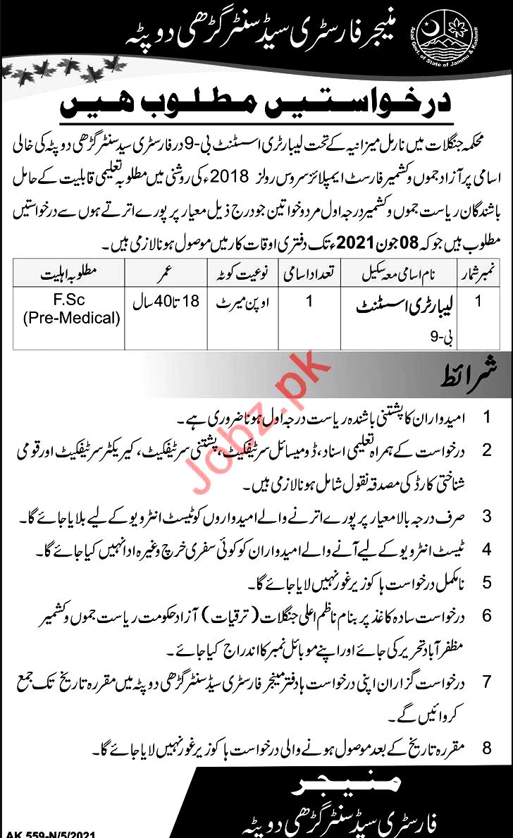 New Jobs in Forest And Wildlife Department Pakistan 2021