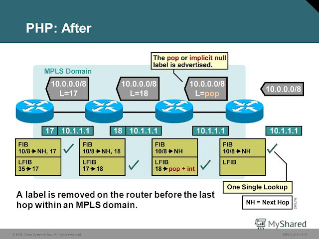 Fig 1.1 - MPLS PHP