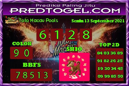 Pred Macau Senin 13 September 2021