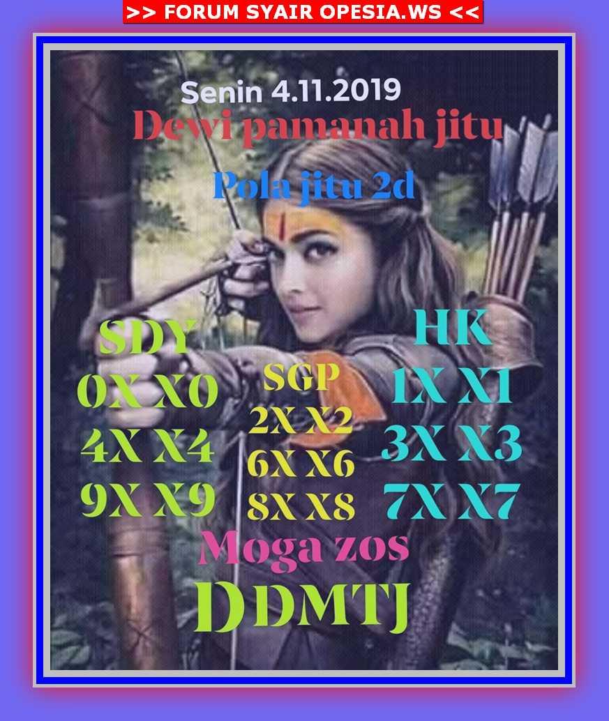 Kode syair Singapore Senin 4 November 2019 38