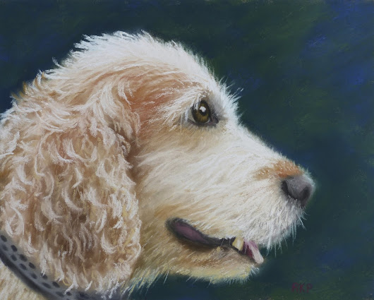 How to paint a dog in pastels ~ a demo of painting the portrait of a wonderful dog named Harvey.