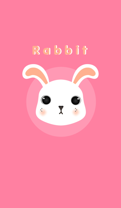 White Rabbit and pink background