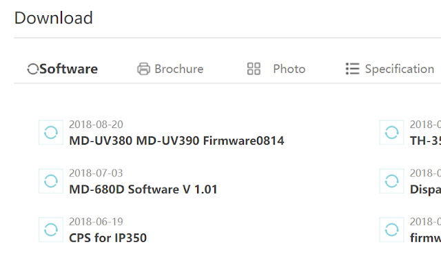 latest md-uv380 firmware