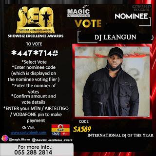 DJ Leangun receives nomination as Best International DJ