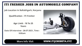 Job Vacancy In Automobile Part Manufacturing Company