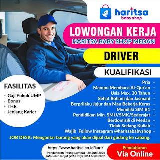 Driver di Harista Baby Shop Medan