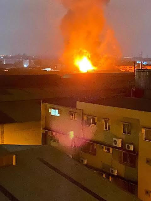Fire Guts Guinness plc in Ogba Lagos