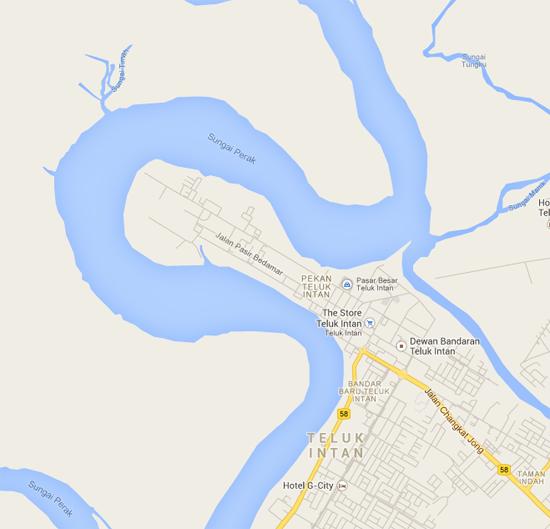 Bandar Teluk Intan - Benuk Geografi