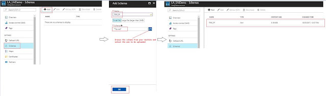 upload schemas in Integration Account
