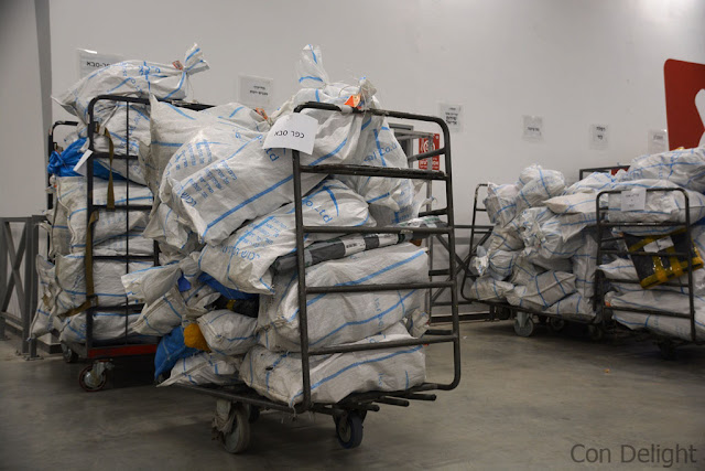 sacks of mail in Israel