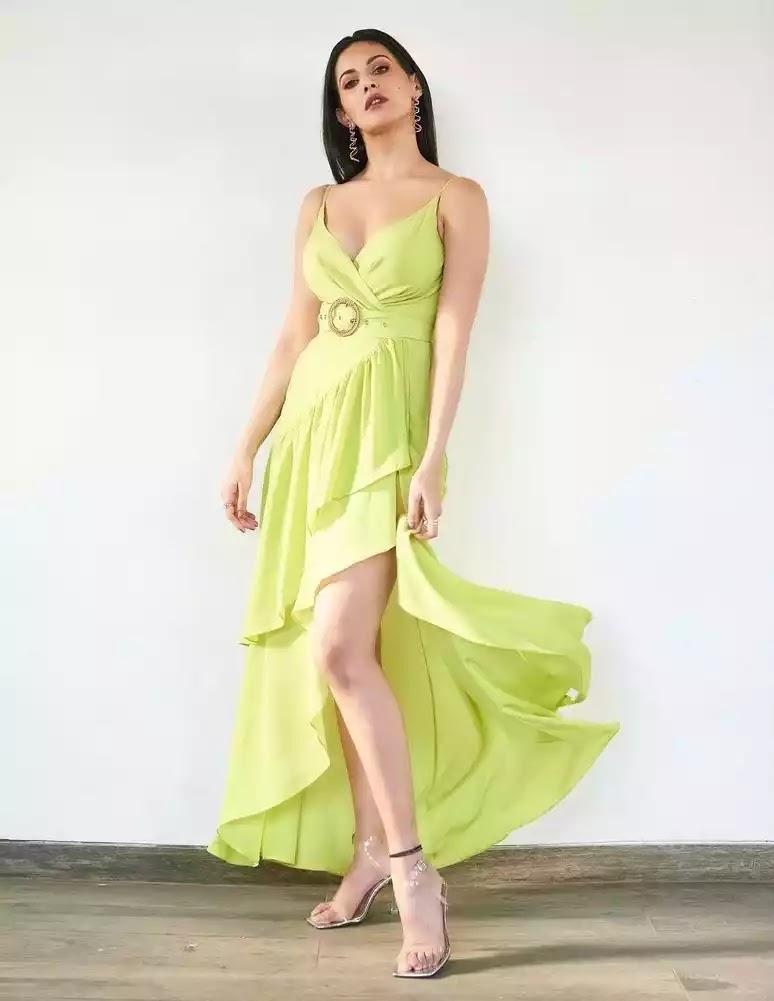 amyra-dastur-hot-sexy-looks-in-green-dress