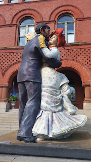 Dancing couple sculpture
