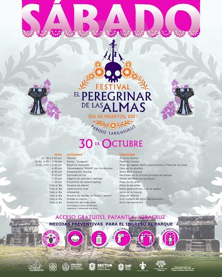 programa festival peregrinar de las almas papantla