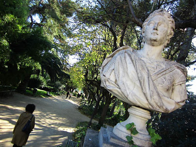 Pedralbes gardens in Barcelona