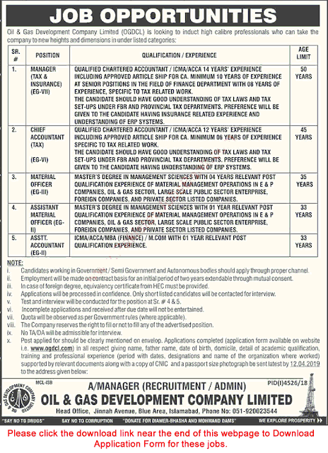 oil and gas jobs in pakistan