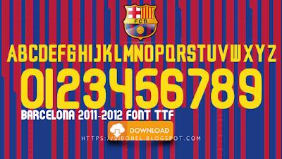 Barcelona 2011-2012 Font TTF
