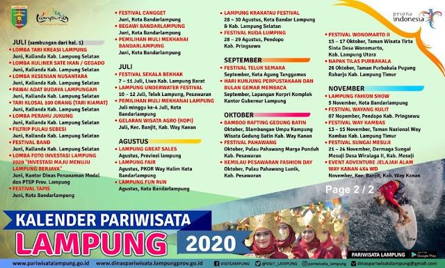 Yuk, Simak Daftar Event Pariwisata Lampung di Bulan Agustus 2020 - PesonaLampung.Com