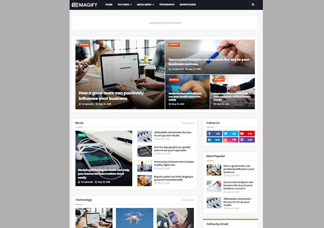 magify blogger template, magify blogger theme, blogger template, blogger theme, responsive template, seo friendly website templates.