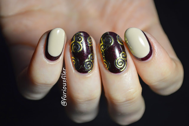swirls stickers nail art ruffian gold