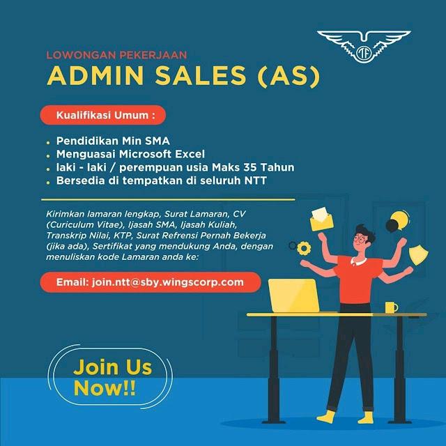 loker kupang Admin Sales di Wings Group