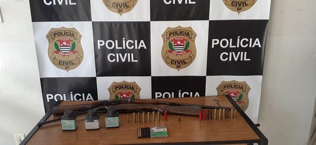 Policia Civil prende em flagrante homem com arma de fogo de uso restrito em Sete Barras