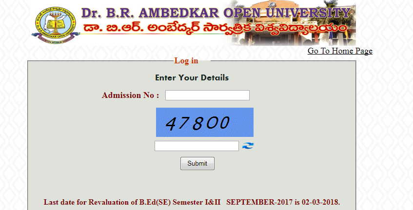 Dr.B.R.Ambedkar Open University BRAOU B.Ed Exam Results