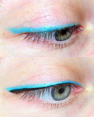 Missha x Calary Girl Blue Halterneck eyeliner, blue eyeliner, eyeliner demo