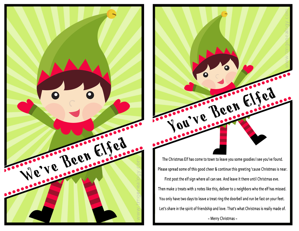 Dramatic image with you've been elfed printable