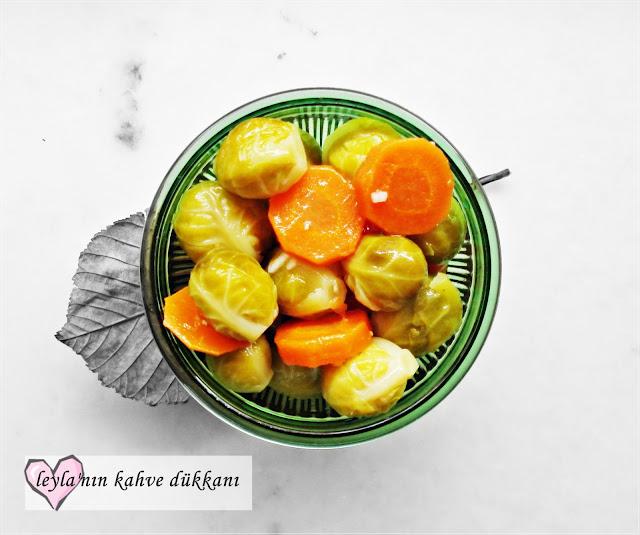 brüksel lahanası salatası , lahana salatası