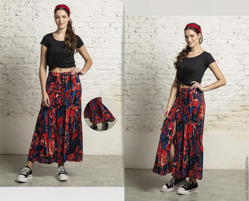 Maxifaldas primavera verano 2020. Moda mujer ropa primavera verano 2020.