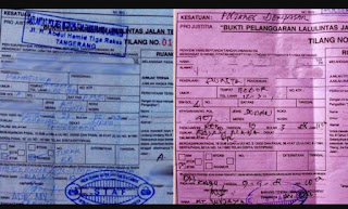 Tempat mengambil surat tilang di palembang