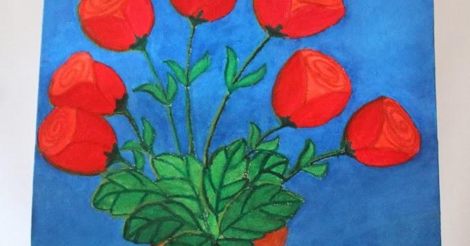 Lukisan Bunga Mawar  Galeri Seni