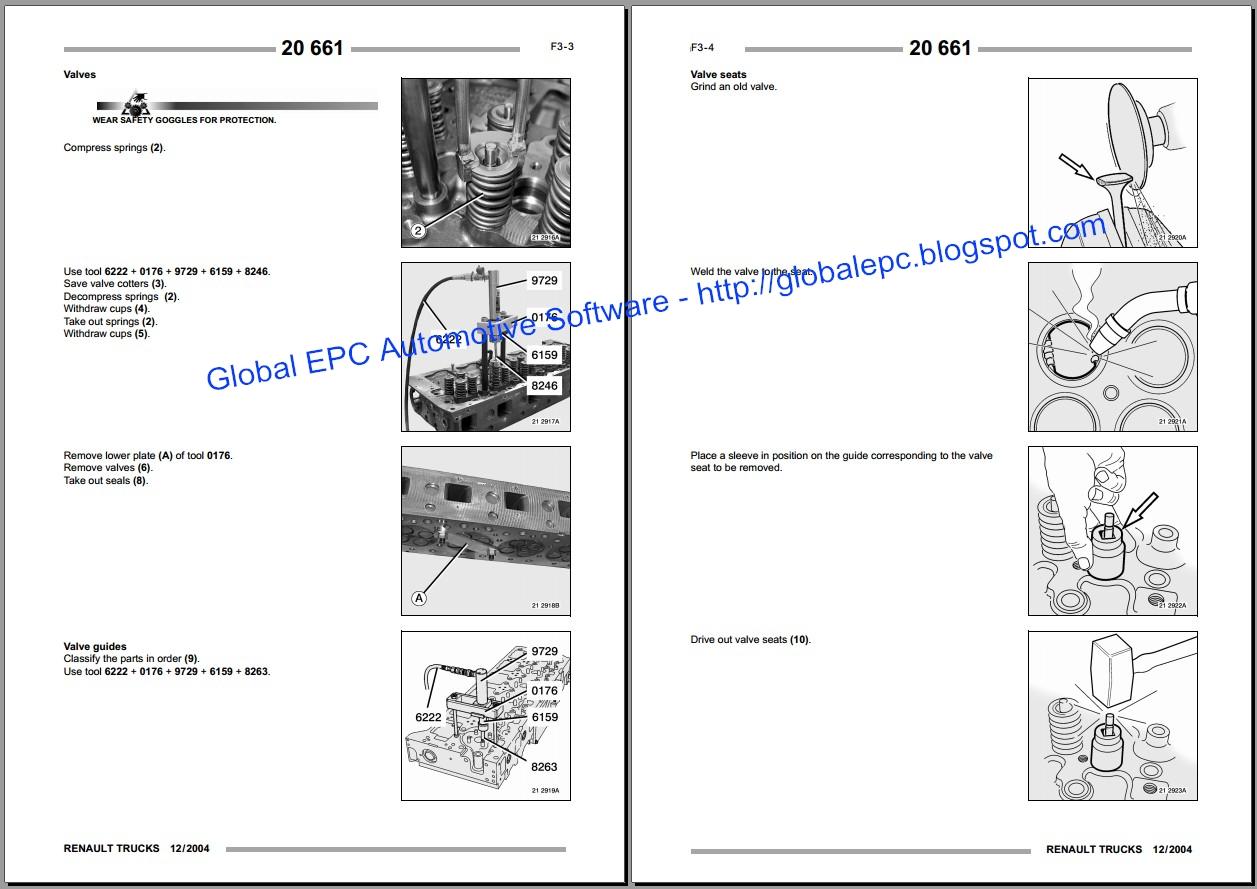 global epc automotive software  renault magnum workshop