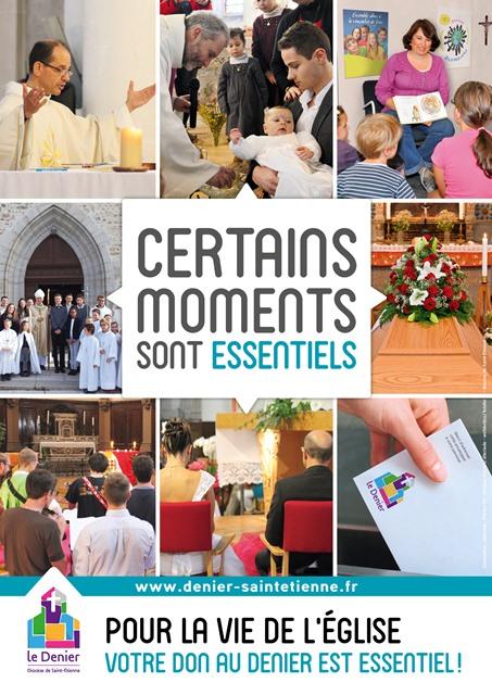 affiche denier 2017 diocèse de Saint-étienne