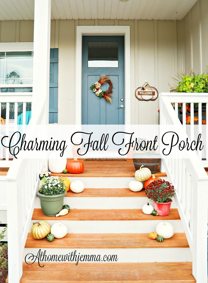 Southern Farmhouse: Charming Fall Front Porch
