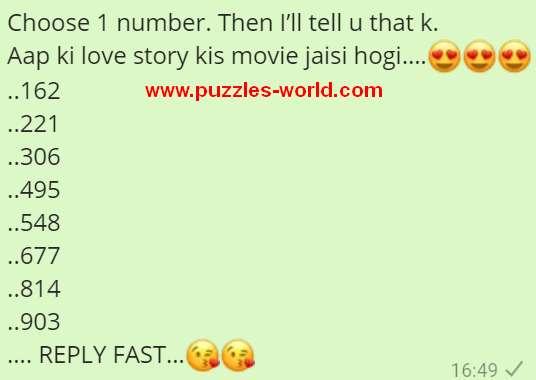 Choose 1 number