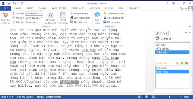 phần mềm kiểm tra chính tả tiếng Việt