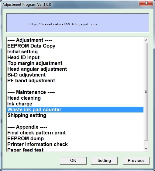 Epson Me 340 Resetter software Free download