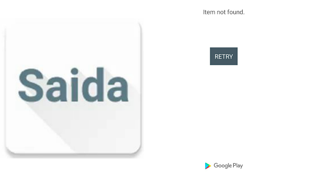 Saida loan app not found
