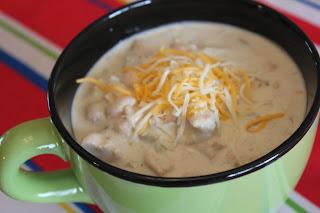 White Chicken Chili in large Mug Bowl