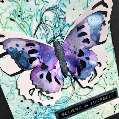 Tim Holtz Sizzix Tattered Butterfly Distress Oxide Sprays Alcohol Pearls Tutorial by Sara Emily Barker https://frillyandfunkie.blogspot.com/2019/03/saturday-showcase-tim-holtz-tattered.html 23