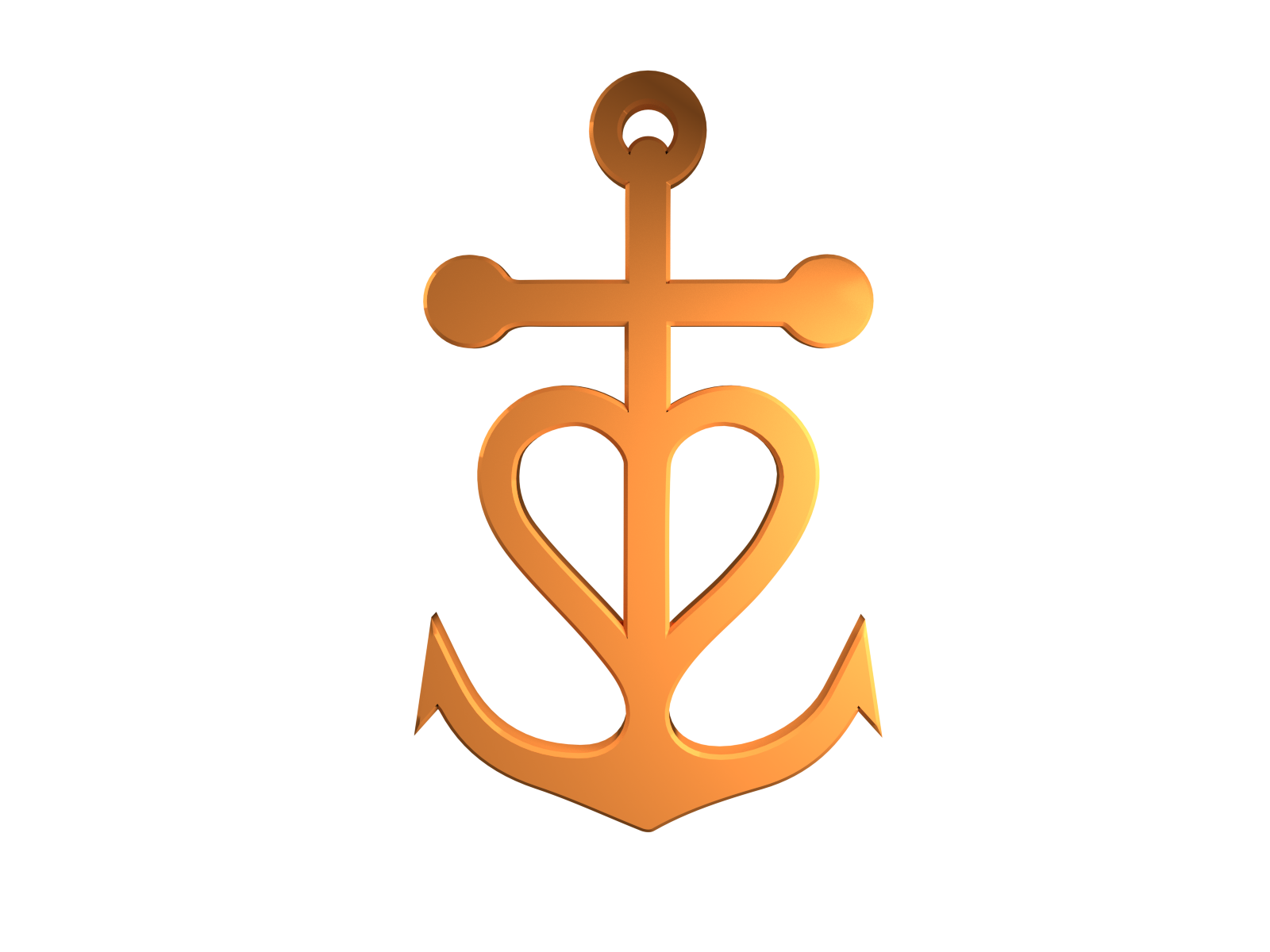 PNG PARK - High Res PNG Files: Christian Anchor Symbol 3D