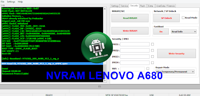 Fix Baseband Unknown-Imei Null Lenovo A680 MT-6582