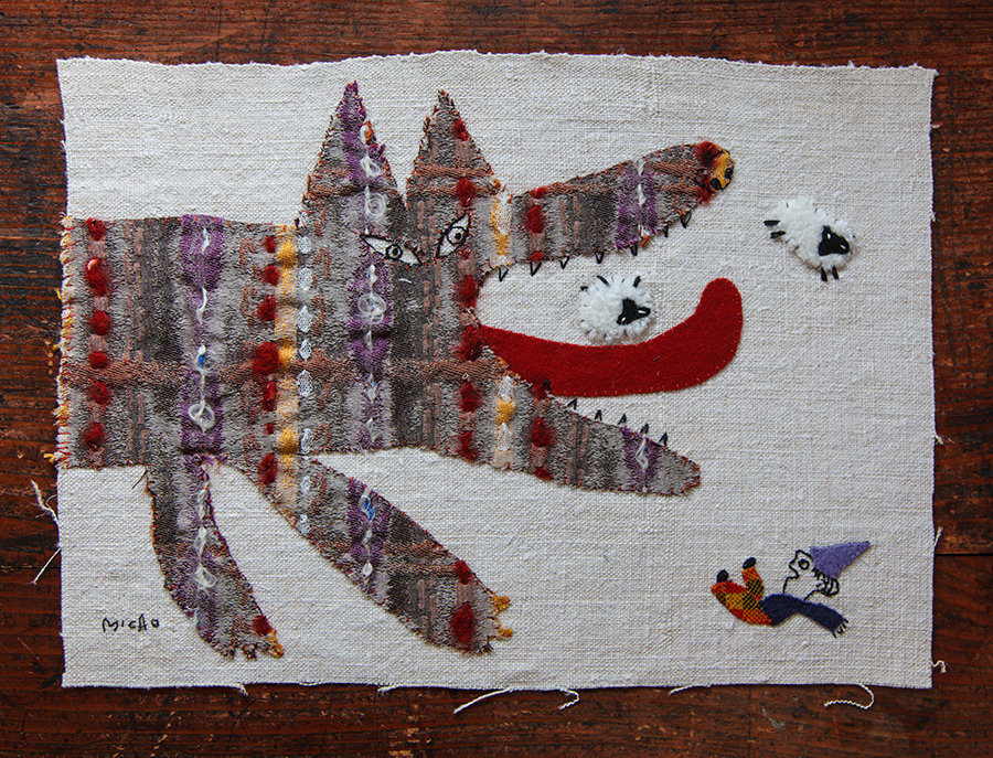 Original artwork by Mika Harasa, featured by Julia Titchfield on Feeling Stitchy